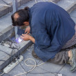 Stock Photo: Worker welding steel 2