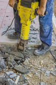 Builder worker with jackhammer 3 — Stock Photo