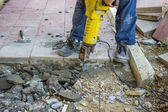 Builder worker with jackhammer 2 — Stock Photo