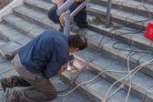 Installation a new hand railing 5 — Stock Photo