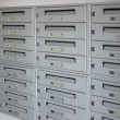 Mailboxes in a row — Stock Photo