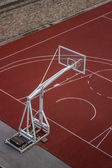 Basketball hoop construction — Stock Photo