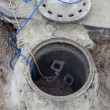 Clogged sewer line, sewer overflows 2 — Stock Photo #38003193