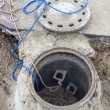 Clogged sewer line, sewer overflows — Stock Photo #38003205