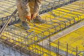 Builder worker Installing Steel Work 2 — Stock fotografie