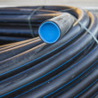 Stock Photo: Black PVC pipe