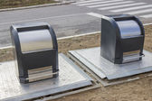 Just installed underground garbage containers 2 — Stock Photo