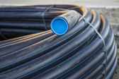 Black PVC pipe — Stock Photo