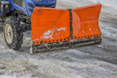 Front View of a Snow Plow — Stock Photo
