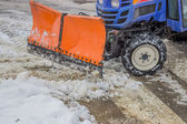Side View of a Snow Plow — Stock Photo
