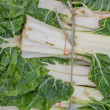 Fresh organic collard greens background — Stock Photo
