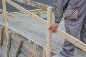 Recinzione di sicurezza telaio in legno 2 — Foto Stock