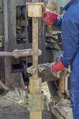 Ground investigation work — Stock Photo