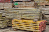 Heap of formwork for a concrete slab 2 — Stock Photo
