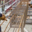 Steel reinforcement cage — Stock Photo #47449615