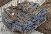 Pallet full of rusty rebar — Stock Photo