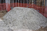 Sand pile at the a construction site — Stock Photo