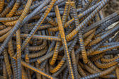 Heap of steel rod for building job — Stock Photo