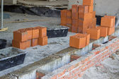 Clay hollow block for foundation walls — Stock Photo