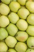 Farmers market apples background — Stock Photo