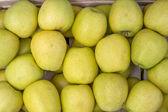 Farmers market apples background 3 — Stock Photo