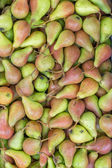 Farmers market pears background — Stock Photo