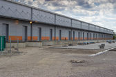 New modern and large warehouse building with warehouse gates 2 — Stock Photo