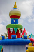 Jumping castle, playground for kids with slides 3 — Foto Stock