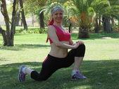 Sportieve vrouw n 73. — Stockfoto