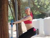 Sportieve vrouw n 50. — Stockfoto