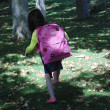 Little girl with backpack N19. — Stock Photo