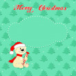 Christmas card with little polar bear — Stock Vector