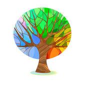 Stylized tree - four seasons — Stockvektor