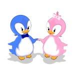 roztomilé tučňáky — Stock fotografie