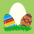 Easter painted eggs — Stock Vector