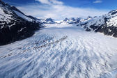 Glacier seen from a bird perspective — Stock Photo