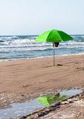 Green parasol — Stock Photo