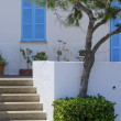 Detail Majorcan house — Stock Photo