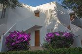 White Ibiza-style building in Cala d'Or, Majorca. — Stock Photo