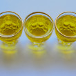 Stock Photo: Olive oil in shot glasses