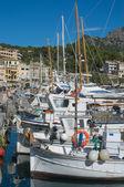 Port de soller marina kis csónakok — Zdjęcie stockowe