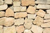 Drystone wall closeup — Stock Photo