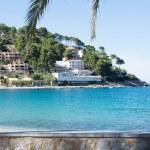 View over the bay in Port de Soller — Stock Photo