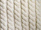 Creamy off-white wool knitwork — Stock Photo