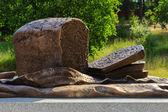 Borodino bread monument — Stock Photo