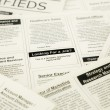 Jobs search on classifieds and newspaper  — Stock Photo #49898809