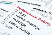 Performance rating and appraisal form — Stock Photo