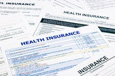 Health insurance form — Stock Photo
