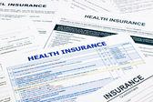 Health insurance form — Stock Photo