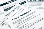 Travel insurance form — Stock Photo